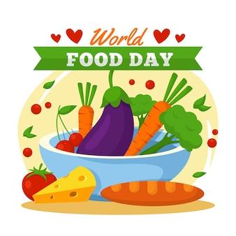 Pyszny artykuł spożywczy na światowy dzień jedzenia