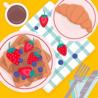 Pyszny francuski piknikowy komfort jedzenia
