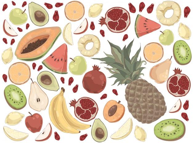 Pyszny letni zestaw ekologicznej żywności