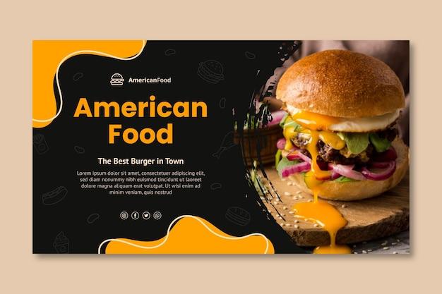 Pyszny szablon transparentu amerykańskiego jedzenia