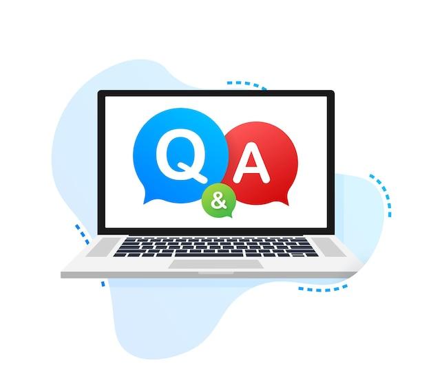 Pytania i odpowiedzi bubble chat na białym tle. czas ilustracja wektorowa.
