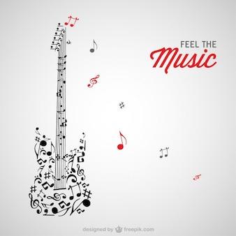 Quitar muzyka wektorowe