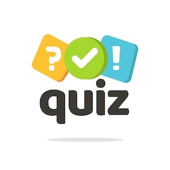 Quiz logo lub symbol ikony kwestionariusza ankiety