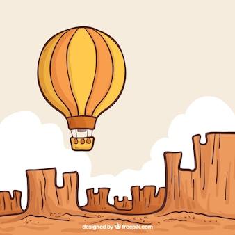 Ręcznie rysowane balon z rocznika stylu