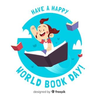 Ręcznie rysowane banery dzień książki świata
