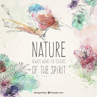 Ręcznie rysowane elementy naturalne