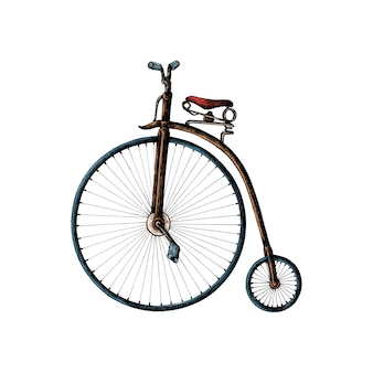 Ręcznie rysowane grosza Fartowanie rowerów