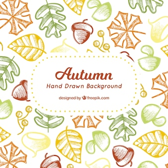 Ręcznie rysowane jesienią tła