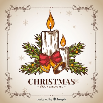 Ręcznie rysowane tła Bożego Narodzenia