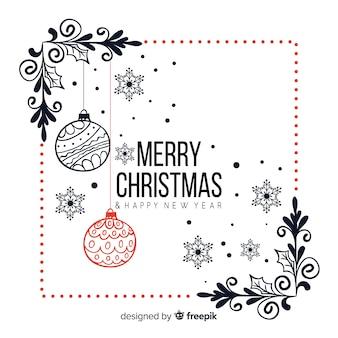 Ręcznie rysowane tło Boże Narodzenie