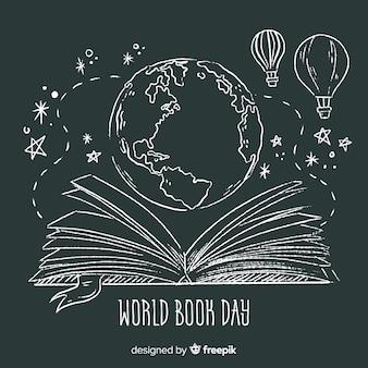 Ręcznie rysowane tło książki świata