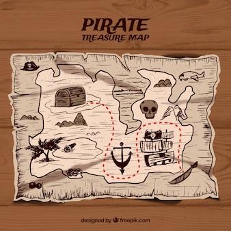 R? cznie narysowane tle mapy