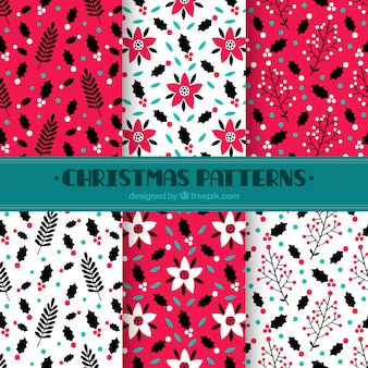 R? cznie rysowane christmas dekoracyjne wzorców