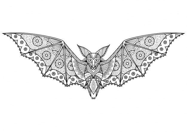 R? cznie rysowane tle bat