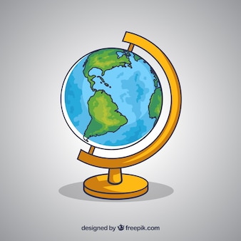 R? cznie rysowane ziemi globu tle
