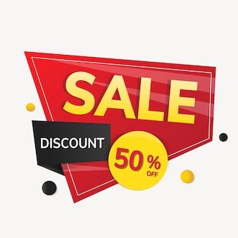 Rabatowa naklejka na baner, specjalna oferta na zakupy clipart wektor