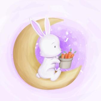 Rabbit autumn season zdobądź marchewki