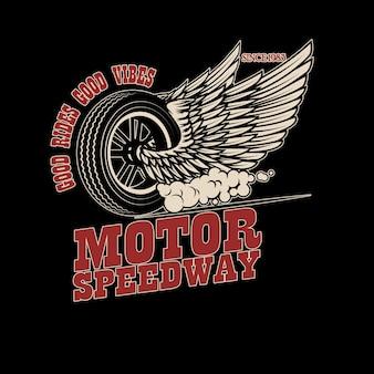 Racer skrzydlate koło ilustracja