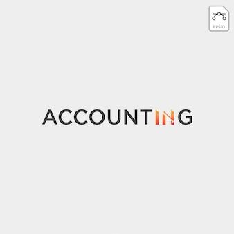 Rachunkowości, szablon logo kreatywnych finansów