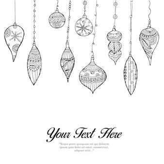 Rączka rysowane czarno-białe dzwony tła