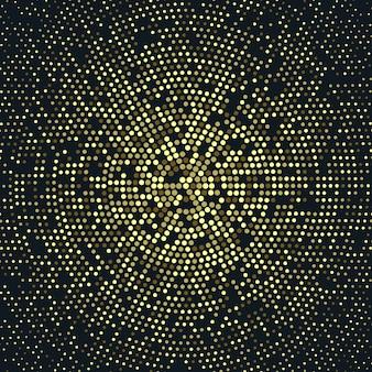 Radial złoty wzór półtonów, luksusowe tło złoto