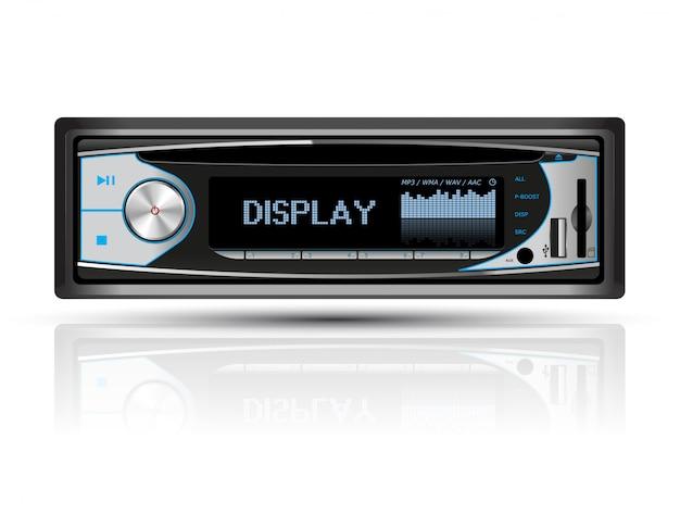 Radio samochodowe niebieski