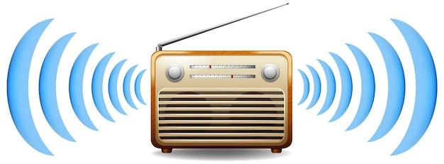 Radio z falą dźwiękową