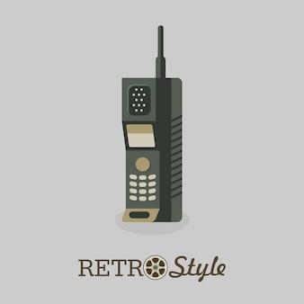 Radiotelefon. przestarzały model. słuchawka.
