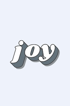 Radość słowo funky typografia