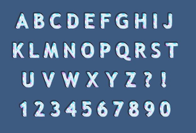 Rainbow ice 3d alfabetów zestaw liczb