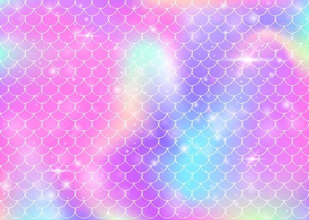 Rainbow skaluje tło wzór syrenki księżniczki.