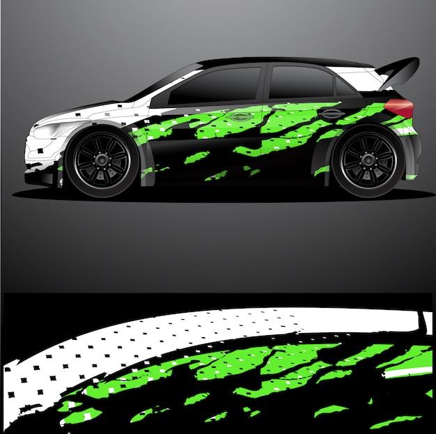 Rajd samochodowy kalkomania graficzna wrap, abstrakcyjne tło