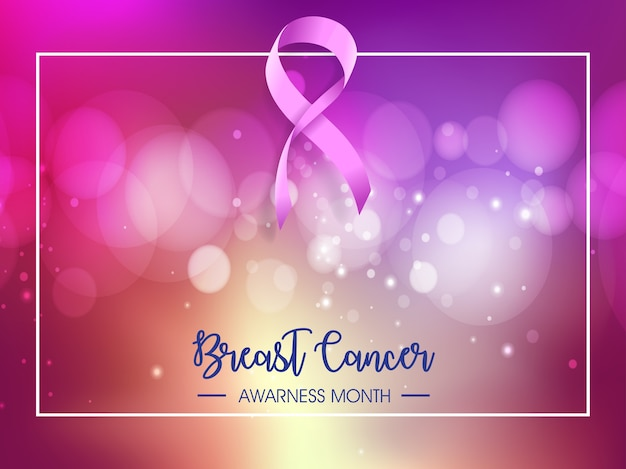 Rak świadomości raka miesiąc ilustracja projektu