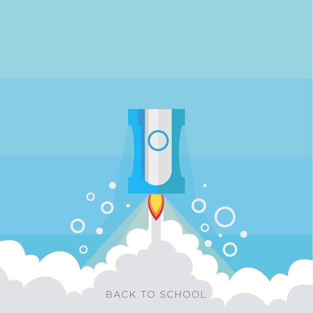 Rakieta do ostrzenia ołówków powrót do szkoły