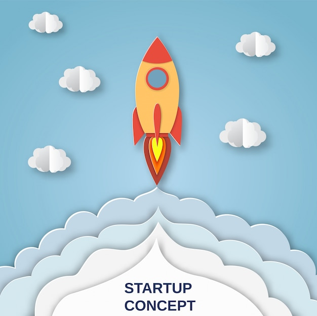 Rakieta do startupowego projektu biznesowego