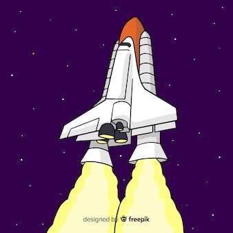 Rakieta rakietowa nowoczesnych ręcznie rysowane