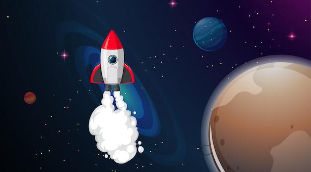 Rakieta w scenie kosmicznej