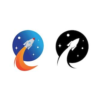 Rakieta wektor ilustracja ikona logo szablon projektu