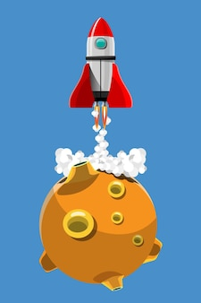 Rakieta wylądowała na planecie w programie eksploracji kosmosu przez ludzi na ziemi.