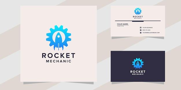 Rakieta z szablonem logo mechanika