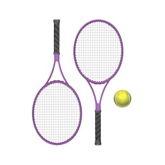 Rakiety tenisowe wektor z piłką