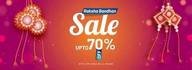 Raksha bandha wyprzedaż banner