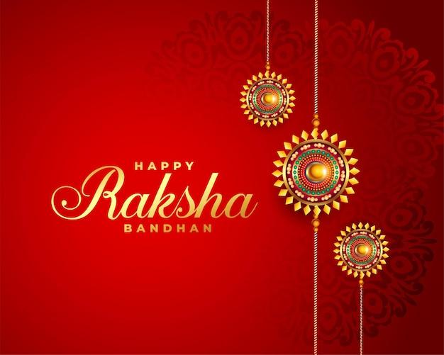 Raksha bandhan czerwony festiwal powitalny projekt