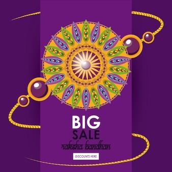 Raksha bandhan duży szablon sprzedaży