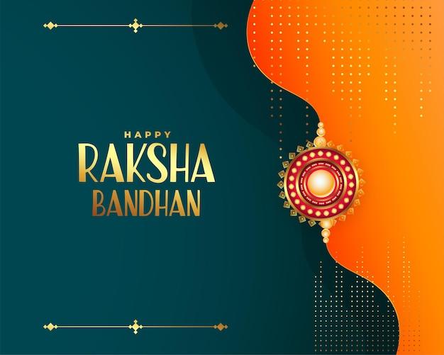 Raksha bandhan festiwal pozdrowienia życzy błyszczącego projektu karty