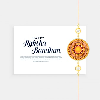 Raksha bandhan festiwalowe tło ze złotym rakhi (opaska na rękę)