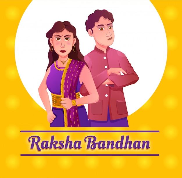 Raksha bandhan festiwalu ilustracja