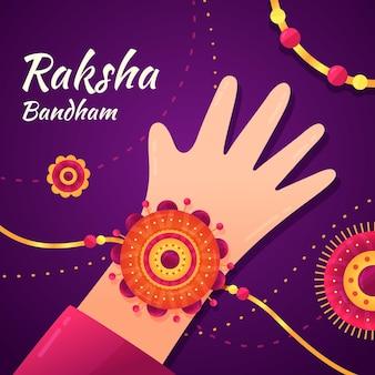 Raksha bandhan ilustracja koncepcja