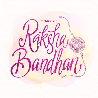 Raksha bandhan koncepcja napis