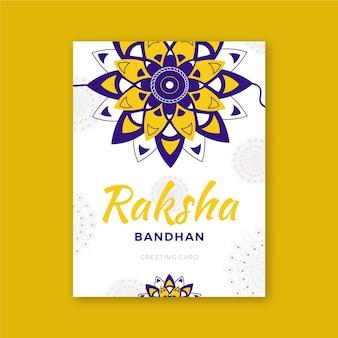 Raksha bandhan motyw karty z pozdrowieniami
